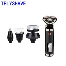 цена на TFLYSHAVE Men High Quality Assurance Electric Shaver Charging Mode Private Facial 4D Waterproof Beard TrimmerQuality Assurance