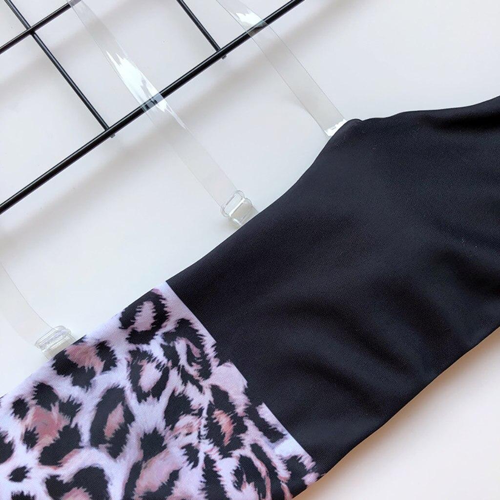 Swimsuit Women's Bikini Leopard Set Two Piece Filled Bra Beachwear Swimming pool Sea Daily swimwear women bikinis 2020 mujer#Y20 7