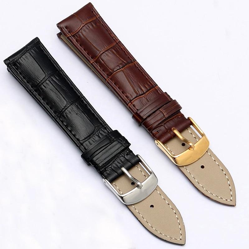 Correas de cuero genuino para relojes, correas de reloj de 12mm, 18mm, 20mm y 22mm, accesorios para relojes DW galaxy Watch gear s3