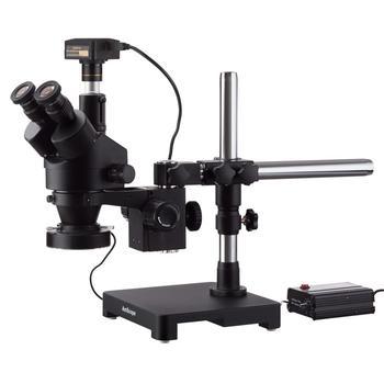 3.5X-180X черный Тринокулярный Стерео зум микроскоп на одна рукоятка стрелы стенд с тяжелых 80-светодиодный кольцевой свет и 3MP USB3.0 Digita