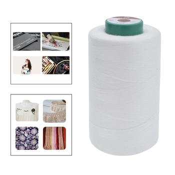 White Water Soluble Sewing Thread Dissolved Yarn Basting Thread 1000m/3000m image