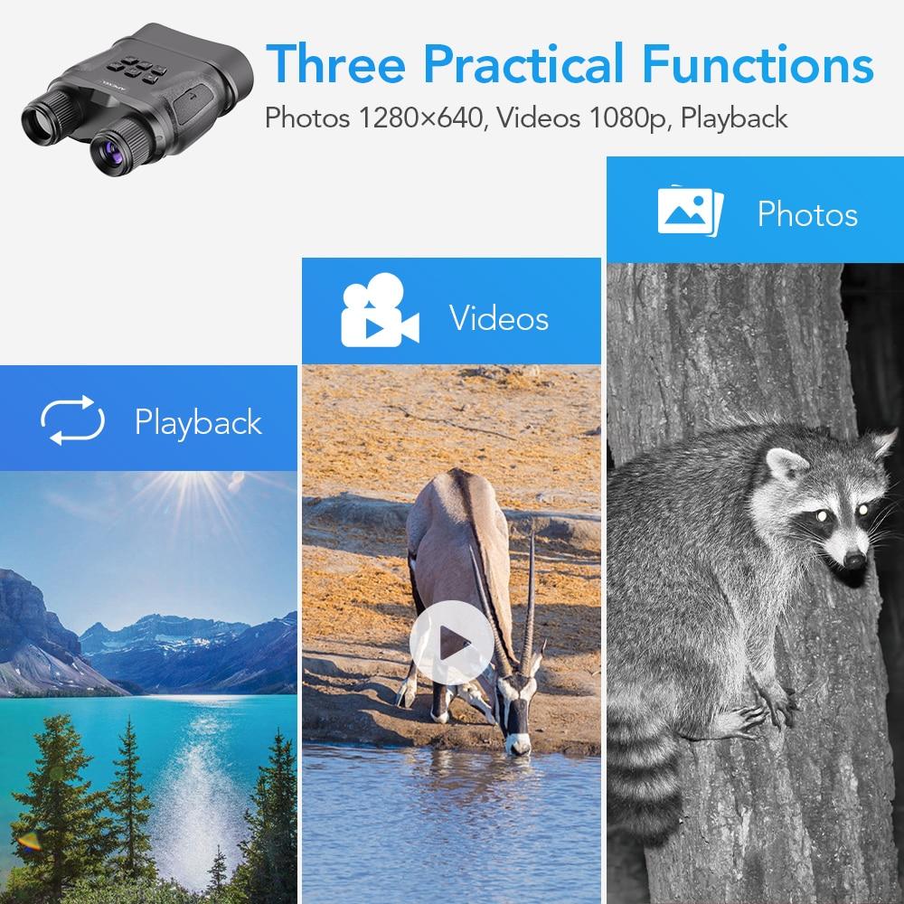 Tools : APEXEL Digital Night Vision Binoculars With Video Recording HD Infrared Day And Night Vision Hunting Binoculars Telescope