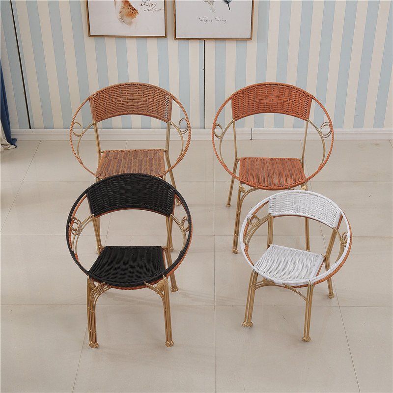 Rattan Chair Small Wicker Chair Armchair Children Xiao Teng Chair Single Person Adult Household Weaving Wicker Chair Yang Tai Yi