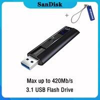 Sandisk USB Flash Drive 256 128 GB High Speed max 420M Pendrive 128gb 256gb Pen Drive 3.1 USB Stick Disk on Key Memory for Phone