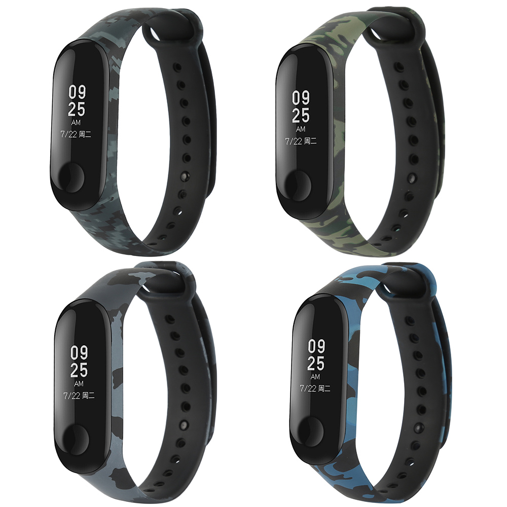 TPU Sport Bracelet For Xiaomi Mi Band 3 Silicone Colorful M Band 3 Metal Strap PU  Not For MiBand 4 Wristbands Replacement Strap