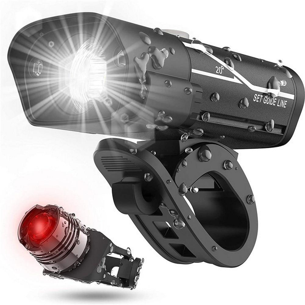 WEST BIKING велосипедный светильник T6 L2 светодиодный велосипедный передний задний светильник, набор USB перезаряжаемых аккумуляторов, водонепро...