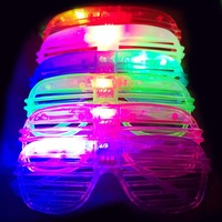 24pcs/set Personality Reusable Glow In The Dark Party Supplies LED Glasses Light Up Glasses Bar Dance Party Festival Decoration