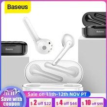 Baseus W07 Bluetooth Oortelefoon Tws Draadloze Bluetooth Oortelefoon 3D Stereo Sport Draadloze Koptelefoon Met Dual Ruisonderdrukking Microfoon