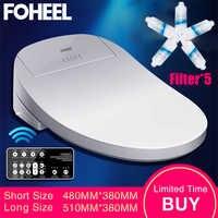 FOHEEL Intelligente Toilette Sitz Elektrische Bidet Abdeckung Smart Bidet beheizte wc sitz Led Licht Wc smart wc sitz deckel