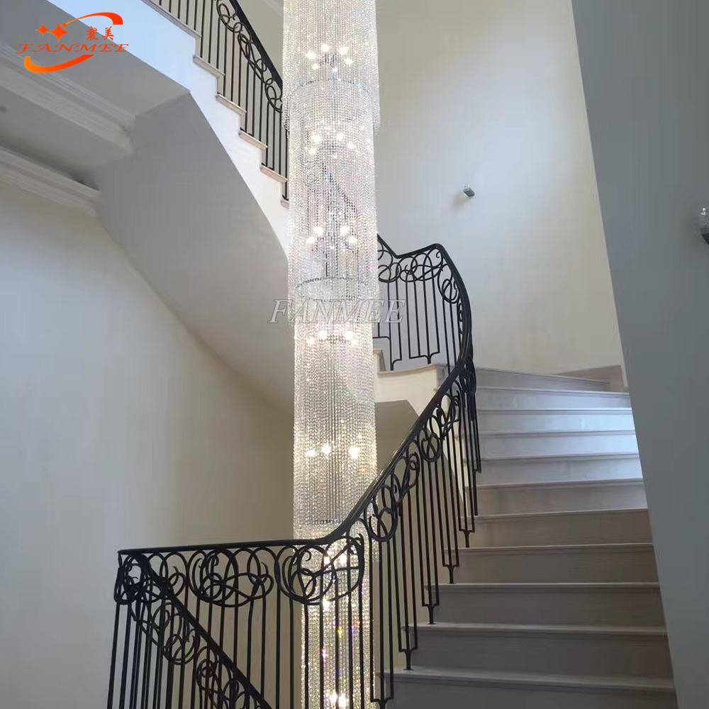Modern Luxury LED Lead Crystal Chandelier Lighting Large Big Hanging Lights Cristal Lamps