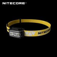 Mikro USB şarj edilebilir Nitecore NU17 üçlü çıkış Ultra hafif acemi far dahili Li ion pil