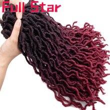 Богиня искусственные локоны в стиле Crochet волосы 20 дюймов мягкие натуральные синтетические вязанные крючком косы волосы для наращивания предварительно петлевые локоны оптом Жук коричневый 350