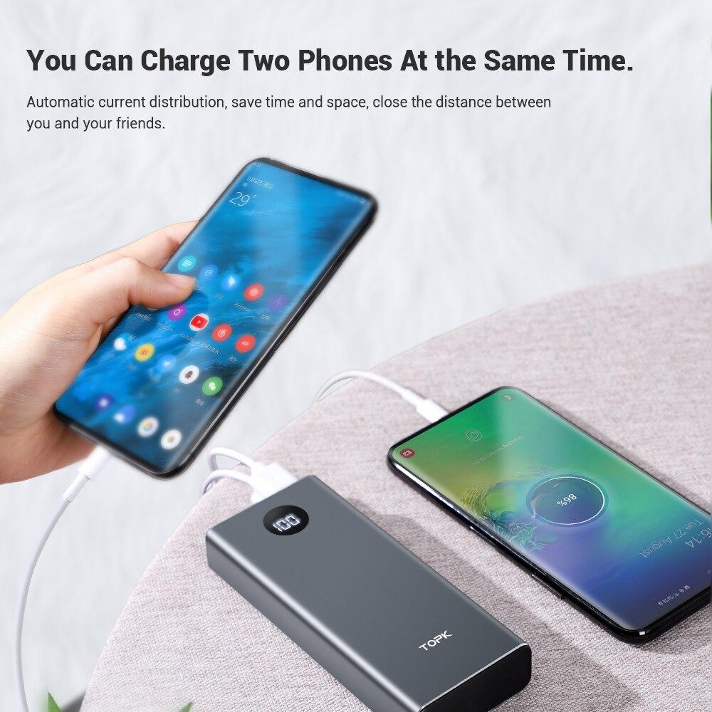 ₧DealTOPK Portable Charger Power-Bank External-Battery Xiaomi 10000mah iPhone 11 Samsung LED