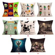 Happy Halloween Pillow Cases Linen body pillow anime yastik kilifi pillowcase pillow case 50*50 pillow-case dakimakura anime(China)