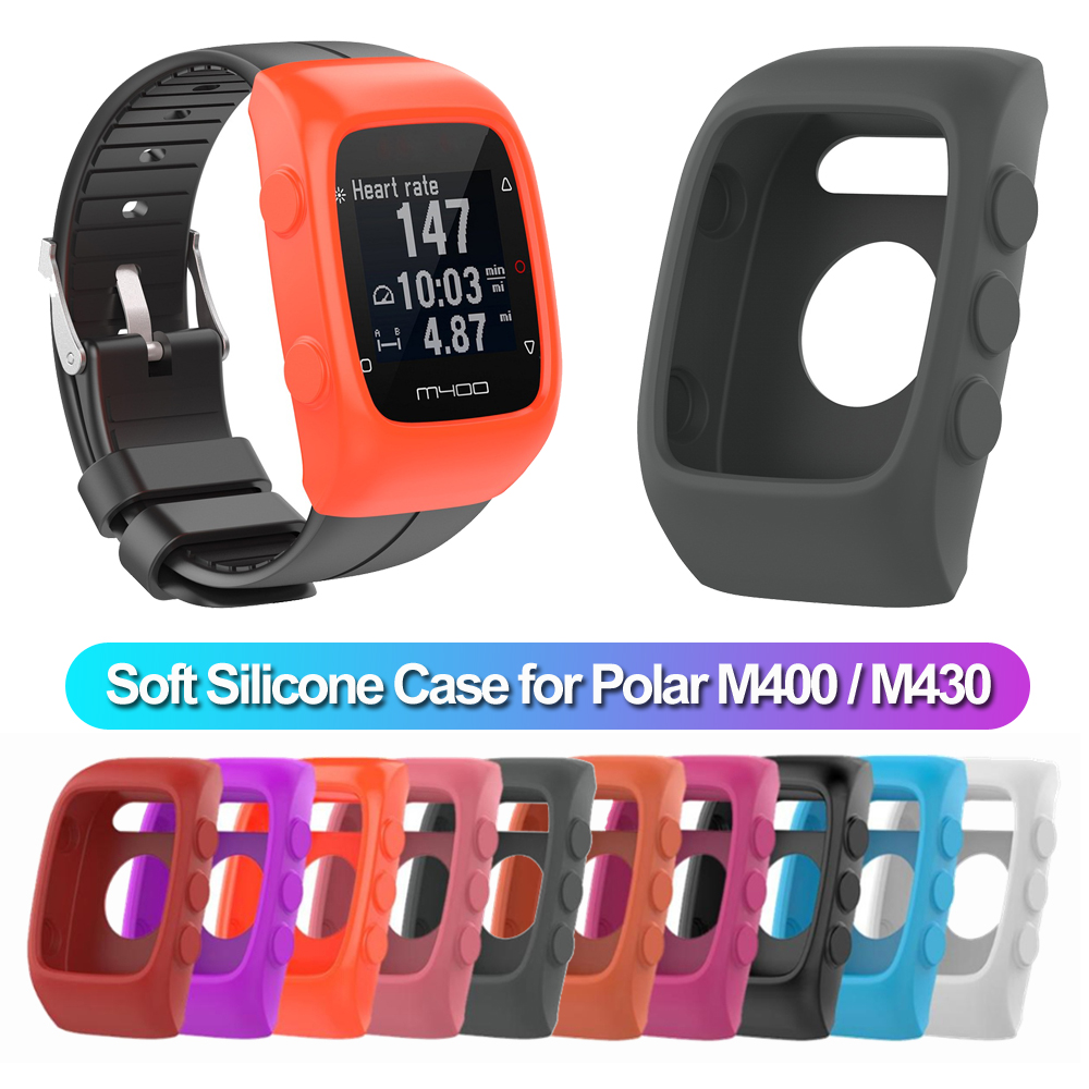 New Soft Silicone Watch Case Protective Cover Screen Protector Sports Watch Protector Smartwatch Skin Bumper for <font><b>Polar</b></font> M400 <font><b>M430</b></font> image
