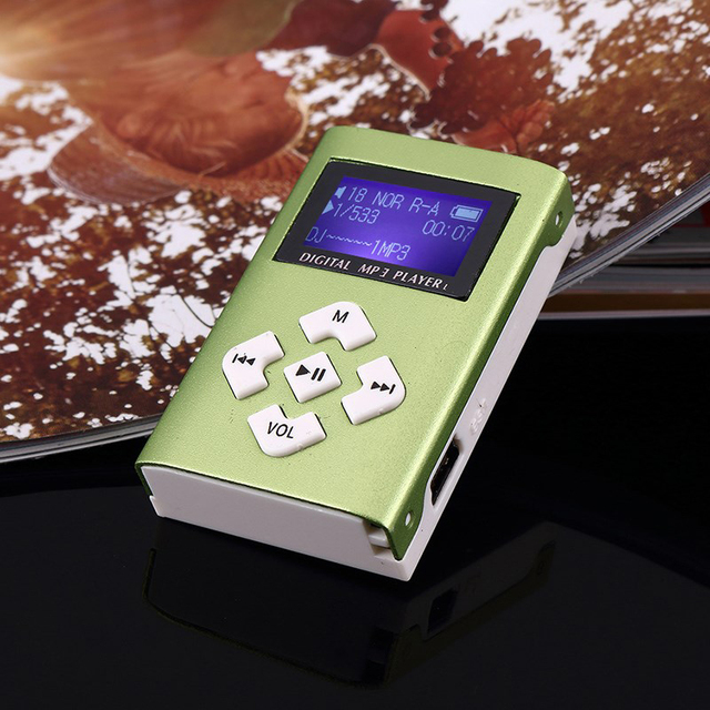 MP3 Music Player Mini Usb Clip Portable Lcd-scherm Ondersteuning 32Gb Micro Sd Tf Card Slot Digitale Mp3 Muziekspeler 4