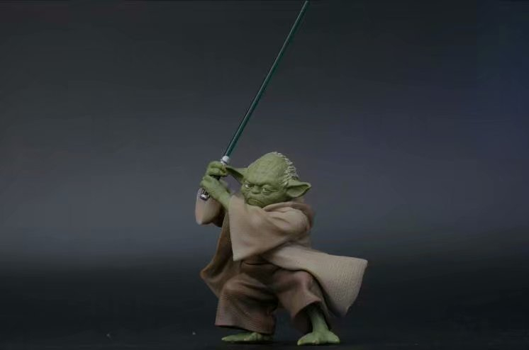 Toys & Hobbies ... Action & Toy Figures ... 32587613277 ... 3 ... Disney Star Wars Yoda Darth Vader Action Figure Doll Toys The Force Awakens Jedi Master Yoda Anime Figures Lightsaber ...