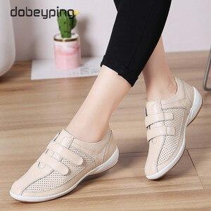 Image 2 - Sonbahar Kadın Ayakkabı Cut Out Kadın Loaferlar Hakiki Deri kadın ayakkabısı Düşük Topuklu Womenn Beyaz Flats Bayanlar Oxfords Boyutu 36  42