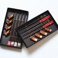 8 шт. подарок на новоселье упаковка 4 палочки 4 Держатели палочек для еды ручной работы Японский Натуральный Деревянный палочки для еды набор