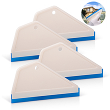 FOSHIO 4 قطعة التفاف أدوات نافذة زجاج سيارة تنظيف تينت أداة المطاط ممسحة المياه الثلوج الجليد مكشطة الفينيل التفاف السيارات الأنظف