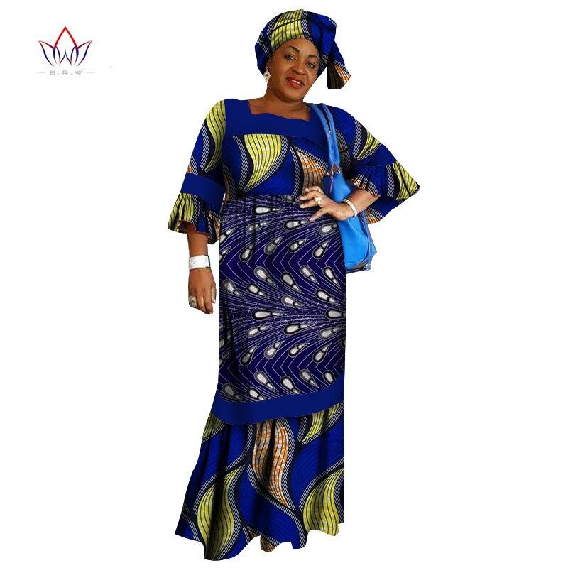 2019 африканские платья Дашики с принтом, Модные свободные африканские платья на заказ WY1408