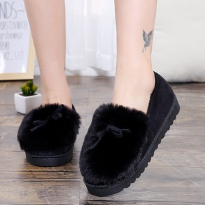 Image 3 - 2020 نعال تدفئة النساء أحذية الشتاء بووتي أفخم داخل متعطل السيدات داخلي المنزل النعال Pantuflas السيدات الانزلاق على الأحذية