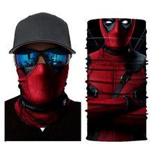 Movie Deadpool Bandana Skull 3D Seamless Balaclava Magic Scarf Outdoor Sports Bandanas Men Women Fishing Cycling Mask Neck Gaite
