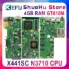KEFU X441SC mainboard Per ASUS X441SC X441SA X441S scheda madre del computer portatile N3710 4GB di RAM GT810M testato al 100% di lavoro originale
