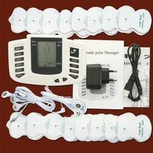 عشرات ems مدلك الكهربائية تحفيز العضلات محفز كهربائي fisioterapia آلة العلاج الطبيعي 16 منصات