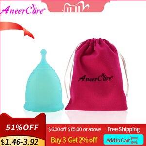Image 1 - 1pcs Feminine Hygiene Menstrual Cup Medical Grade Silicone Copo Menstrual de Silicone Medica Reusable Menstrual Cup