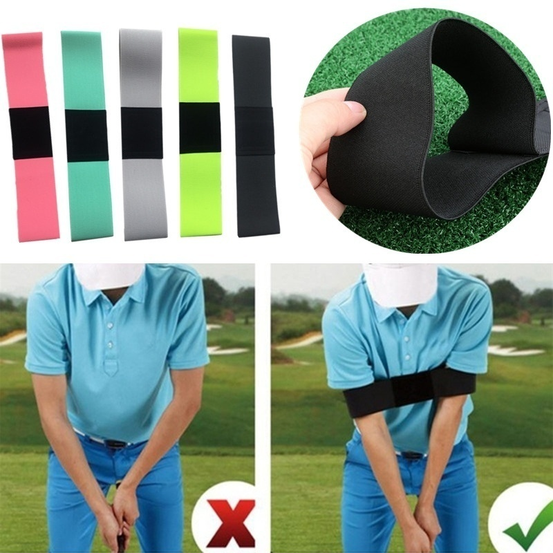 1pcs Golf Correction Belt Corrective Alert Sport Trainging Aids Nylon Black Swing Practice Stick Outdoor Arm Guard Golf Accessor