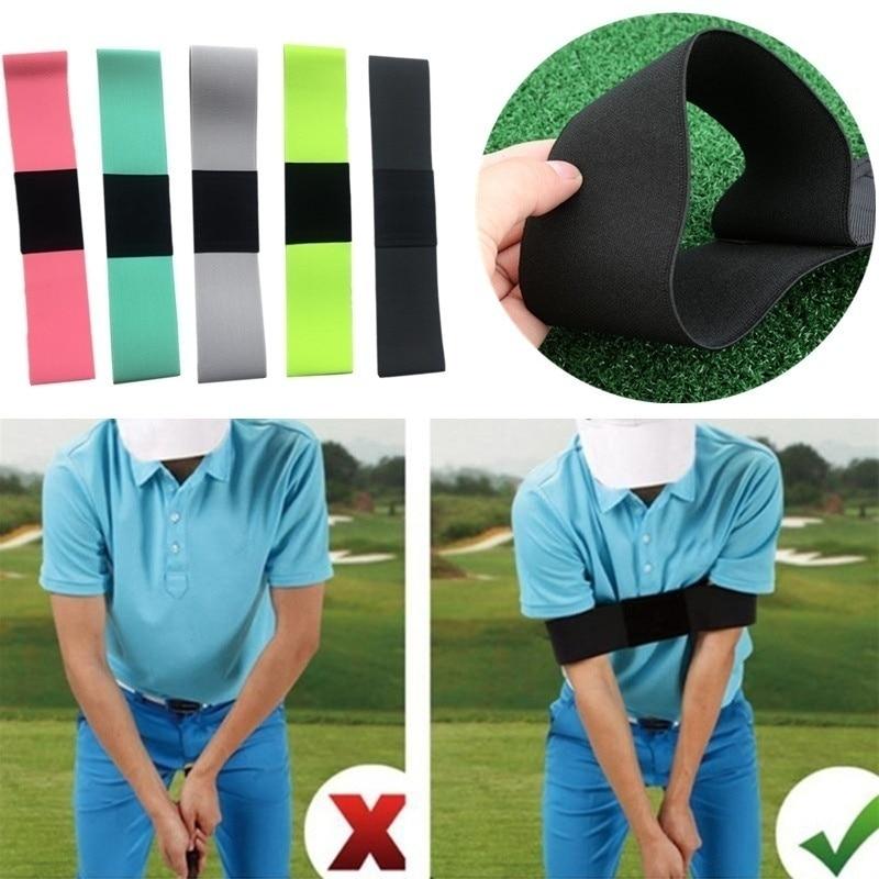 1pcs Golf Correction Belt Corrective Alert Sport Trainging Aids Nylon Black Swing Practice Stick Outdoor Arm Guard Golf Accessor