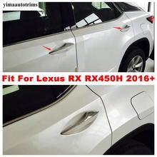Poignée de porte de voiture en ABS chromé, Kit de remise en état extérieur, accessoires de garniture, pour Lexus RX RX450h 2016 2017 2018 2019 2020