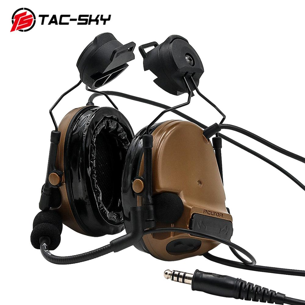 Image 4 - TAC SKY COMTAC III helmet bracket silicone earmuff version outdoor sports noise reduction pickup military tactical headset CB-in Ear Protector from Security & Protection