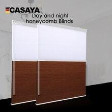 Persianas de nido de abeja de día y noche a la moda, persianas dobles celulares, para sala de estar, dormitorio, tasa de sombreado de 50% ~ 100%