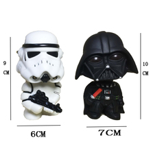 רכב קישוט 1PCS מיני והשחור לבן Stormtrooper בובת פעולה איור רכב פנים דגם קישוט מתנה