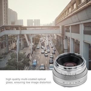 Image 4 - Pergear 25mm f1.8 ידני ראש עדשת לכל אחת סדרת עבור Fujifilm עבור Sony E הר & מיקרו 4/3 מצלמות A7 A7II A7R XT3 XT20