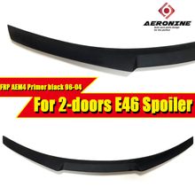 E46 2-door M4 style Trunk Spoiler Wing FRP Unpainted For BMW 3 series 323i 325i 328i 330i High Kick Big wing rear spoiler 96-04