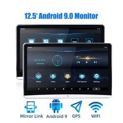 12.5 cal Android 9.0 monitor montowany za zagłówkiem samochodu 1920*1080 4K 1080P ekran dotykowy WiFi/Bluetooth/USB/SD/HDMI/FM/lustro