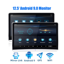 12.5 inch Android 9.0 Auto Hoofdsteun Monitor 1920*1080 4K 1080P Touchscreen WiFi/Bluetooth/ USB/SD/HDMI/FM/Spiegel