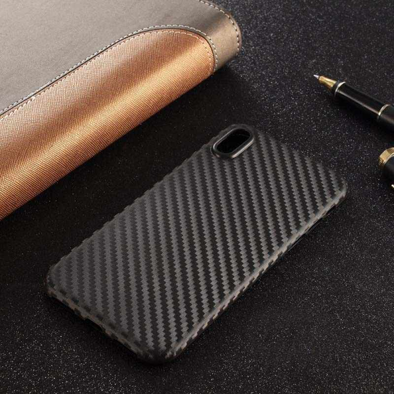 Funda ultradelgada de fibra de carbono para teléfono móvil para iphone 11 iphone 11 pro iphone 11 pro max iphone xs max