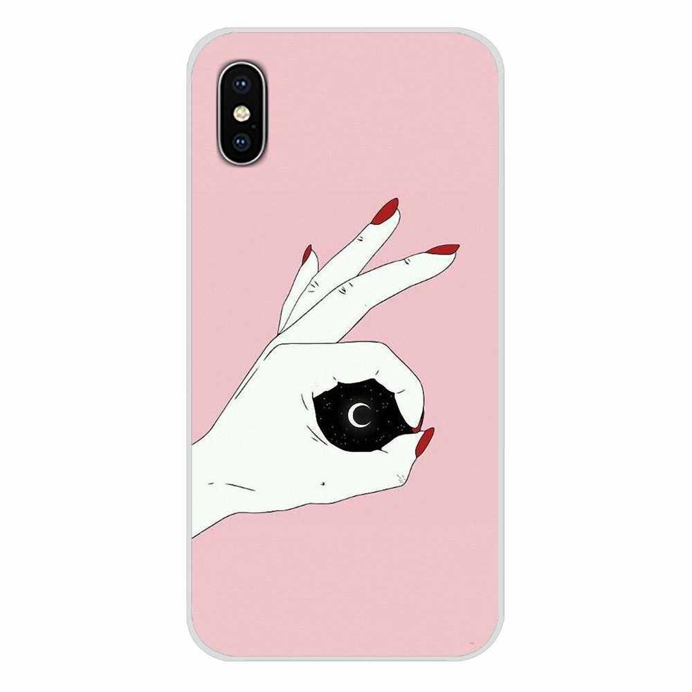 Casos Para Xiaomi Redmi transparente Casca Mole 4A S2 Nota 3 4 4X5 3S Plus 6 7 6A Pro Pocophone F1 Melhores Amigos Maquiagem Unhas Cor de Rosa