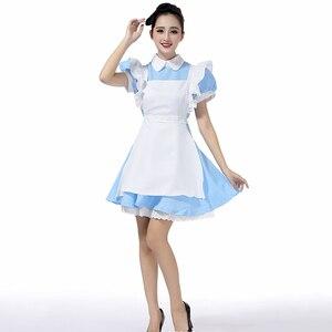 Image 3 - למעלה למכור אליס בארץ הפלאות Cosplay תלבושות לוליטה שמלת עוזרת סינר שמלת פנטזיה קרנבל ליל כל הקדושים תלבושות עבור נשים