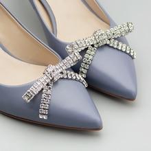 Fashion Women's Shoes Flower Metal Rhinestone Decorative Bowknot Removable Shoe Buckle Clip DIY Wedding Shoe Accessories
