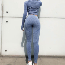 купить 2 pcs  New Seamless Yoga Set Women Fitness Clothing Sportswear Woman Gym Leggings Padded Push up legging Sports Bra Sports Suits дешево