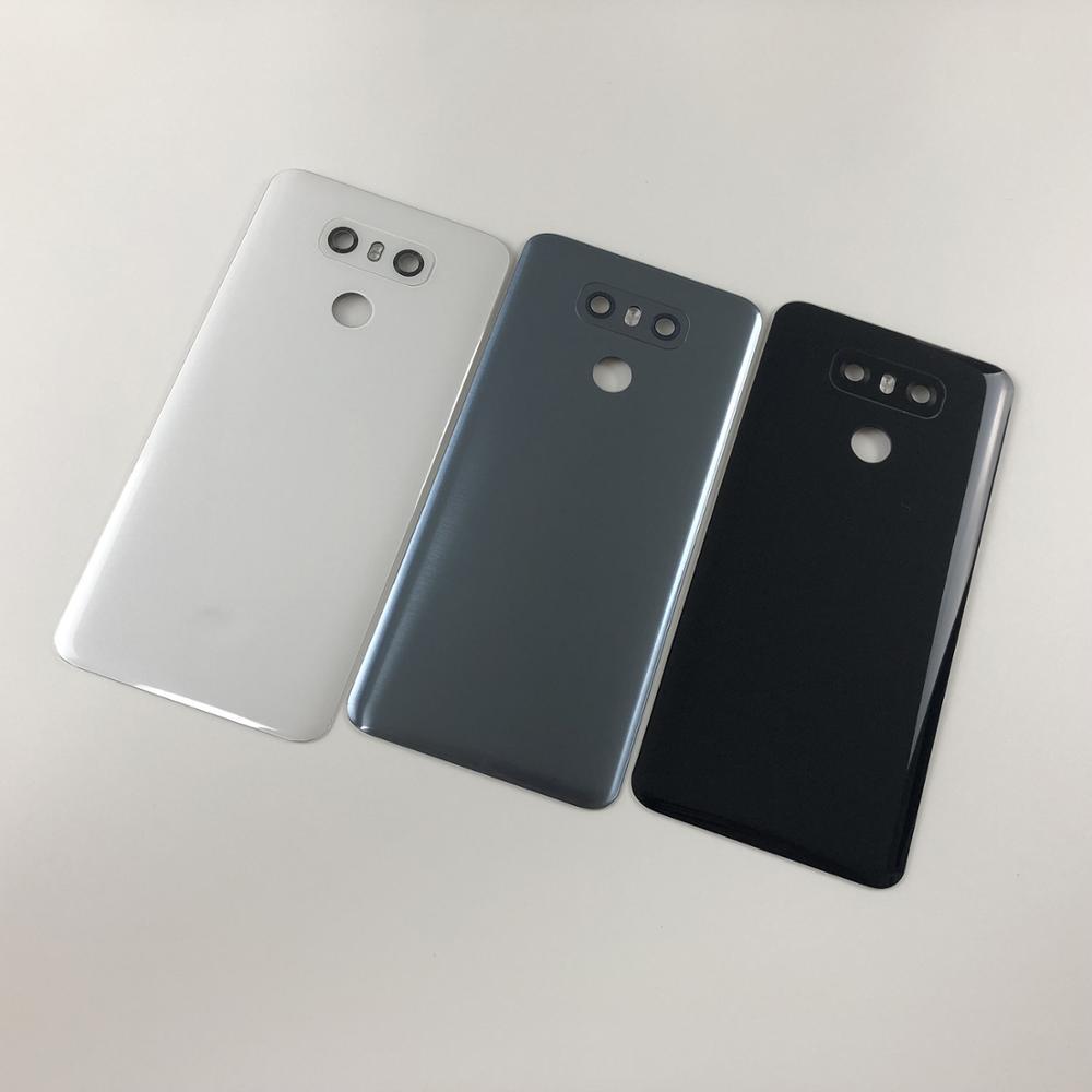 Original For LG G6 LS993 US997 VS998 H870 H871 H872 H873 Housing Glass Battery Back Cover+Camera Lens Glass+Adhesive Sticker