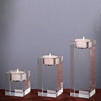 LUDA Religious Candle Holders Tealight Candlestick Wedding Decorations Centerpieces Bonus 3Pcs a Set