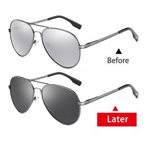 Image 5 - קוצר ראיה Photochromic משקפי שמש diopter מקוטב נהיגה goggle גברים זיקית שינוי צבע מעבר מרשם משקפיים שמש