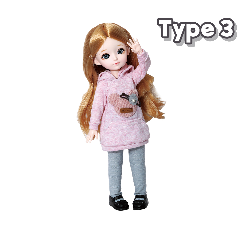 New 1/6 12 Inch 31cm Bjd Doll 23 Joints Long Wig Plastic Toys Musical Doll Girls Children's Favorite Fashion Birthday Presents 9