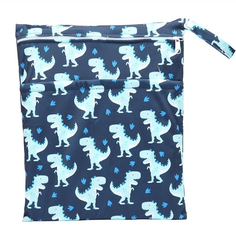 [Sigzagor] 1 Влажная сухая сумка с двумя молниями для детских подгузников, водонепроницаемая сумка для подгузников, розничная и, 36 см x 29 см, на выбор 1000 - Цвет: WH70